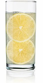 Tall Glass of Water with Lemon Slices