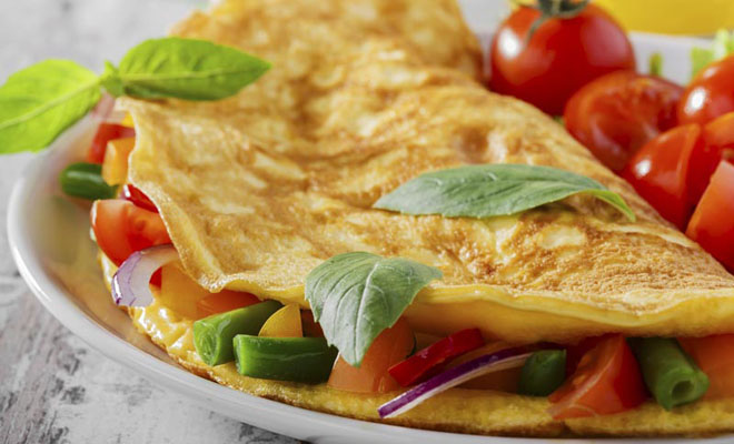 omelete fit simples