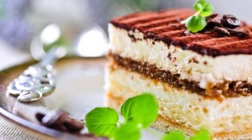 Tiramisu light com queijo cottage