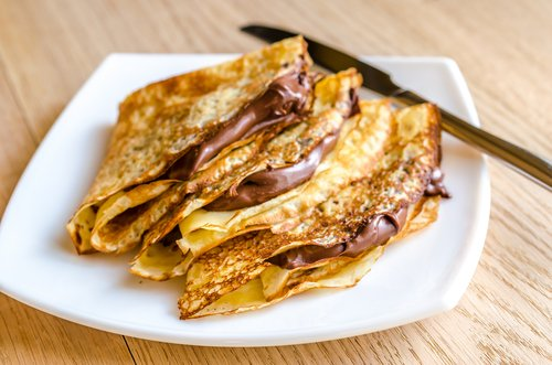 crepes com chocolate
